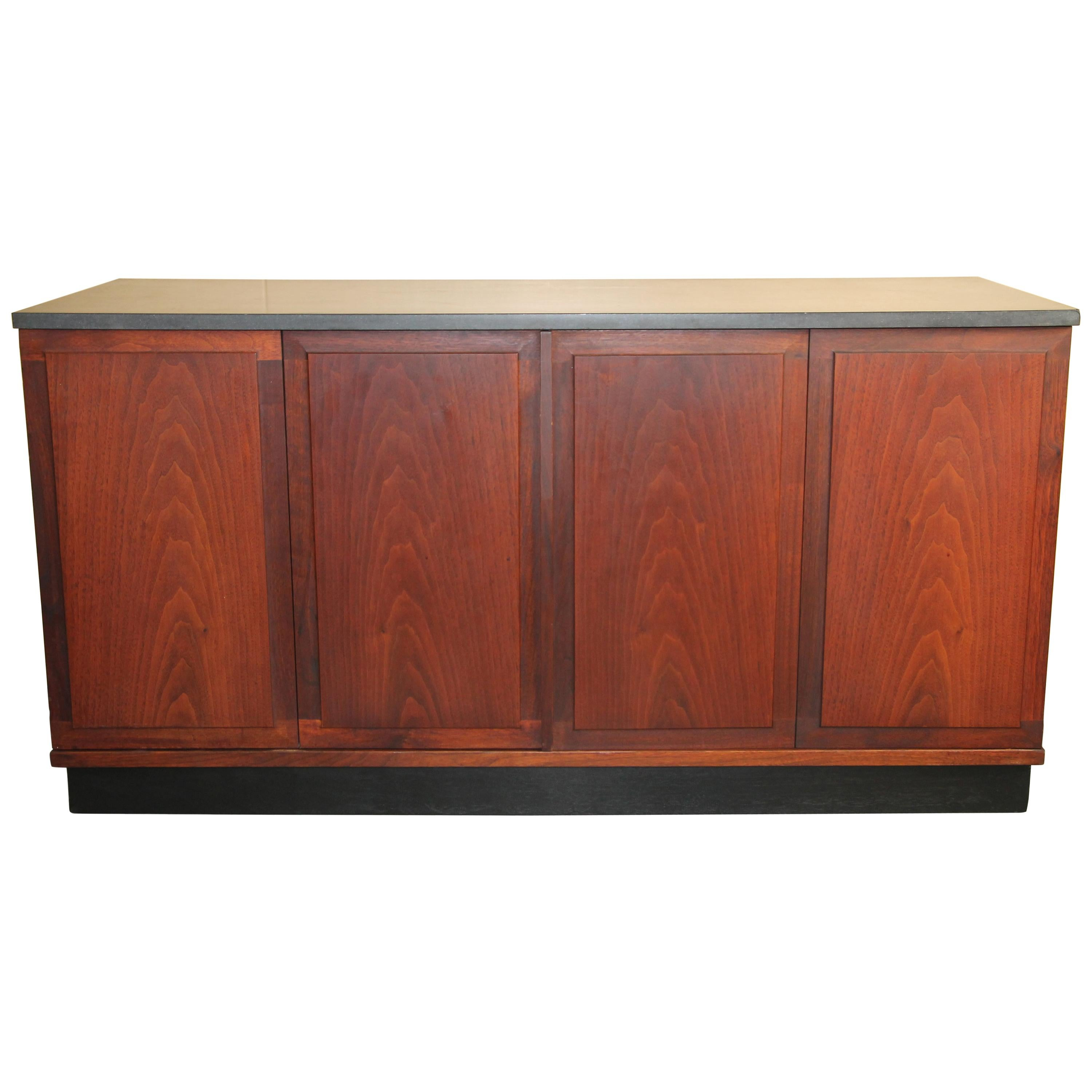 Ordinaire Walnut Credenza With Slate Top By Jack Cartwright For Founders Furniture  Co. For Sale