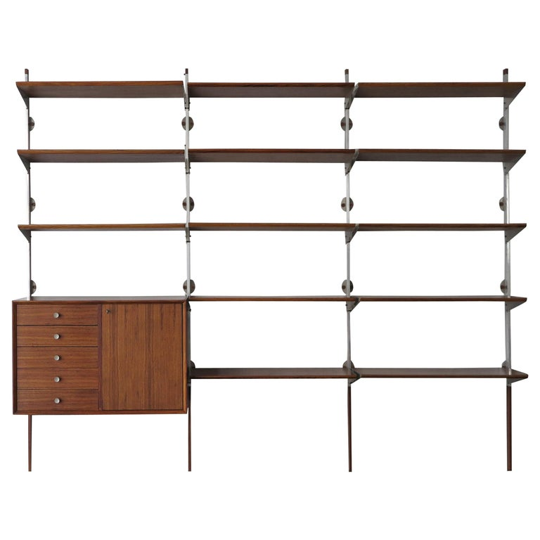 George Nelson Mid-Century Modern Wood Wall System, 1950s For Sale