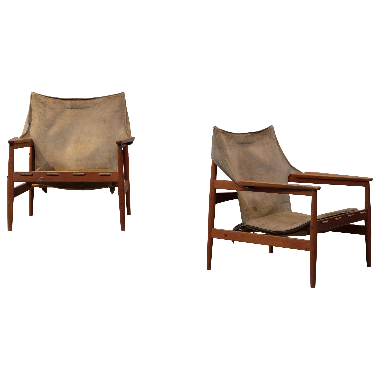 Pair of Hans Olsen Easy Chairs, 1960s