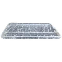 Centerpiece Ice Effect Tray Lucite Willy Rizzo Style,  Italy, 1970s