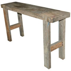 French Workbench Console Table