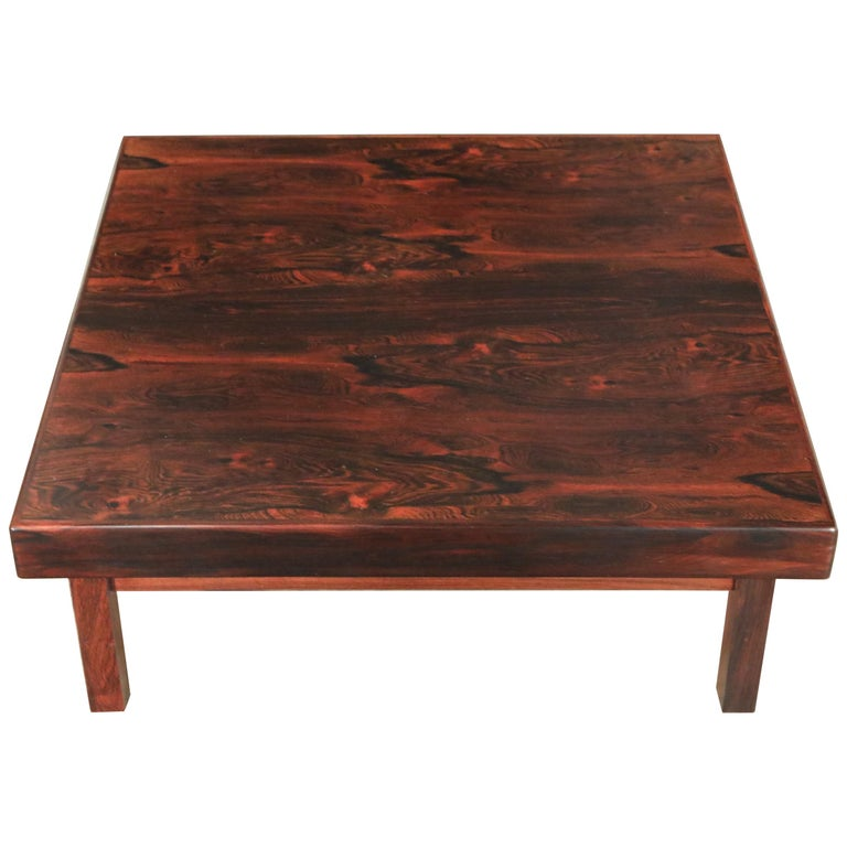 "Sergio Rodrigues for Oca Brazilian Jacaranda ""Vianna"" Coffee Table, Signed For Sale"
