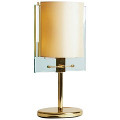 1990s, Italy Nathalie Grenon for Fontana Arte Brass and Glass Table Lamp