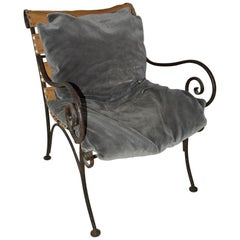 Charming Metal Patio Lounging Armchair