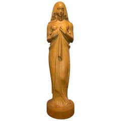 Jan Anteunis Art Deco Female Statue Belgian Sculptor