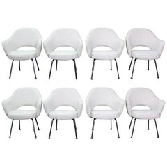 Set of 8 Newly Upholstered Saarinen Executive Chairs by Knoll