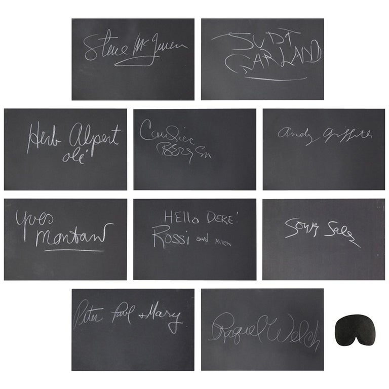 Rare Whats My Line Mystery Guests Autographs Including Steve McQueen For Sale