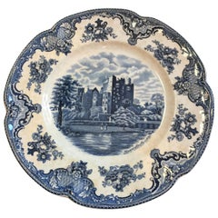 Vintage Blue and White Platter in the Chinese Style, England