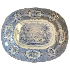 Vintage English Blue and White Platter