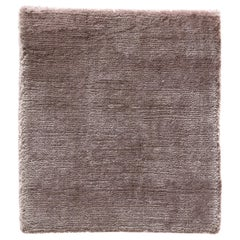 Blush Rose Soft Bamboo Silk Modern Plush Rug