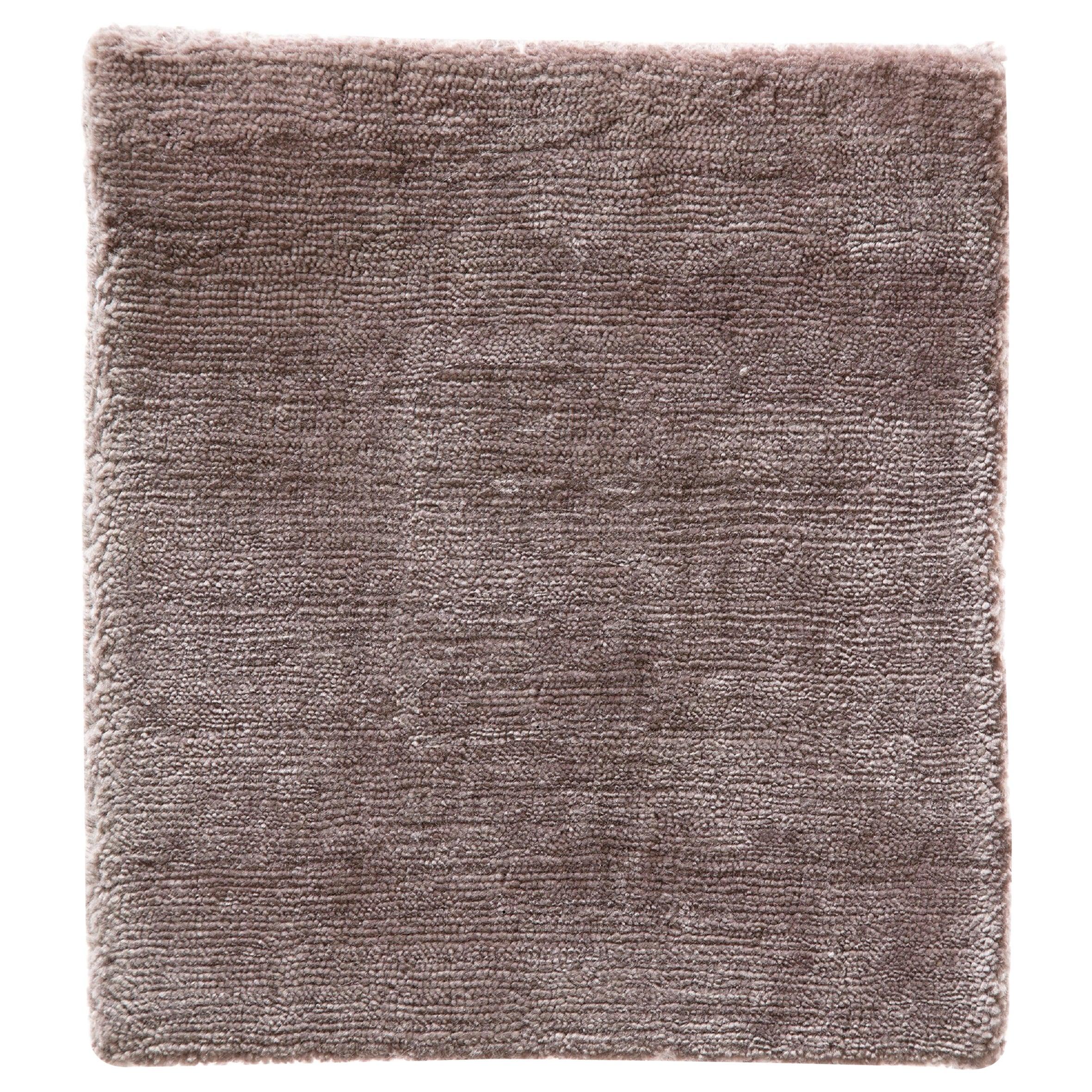 Blush Rose Soft Bamboo Silk Modern Plush Rug