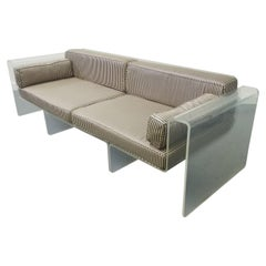 Spiros Zakas Sculpted Lucite Sofa