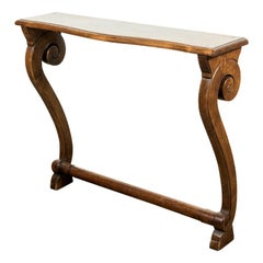 French Empire Period Solid Walnut Console