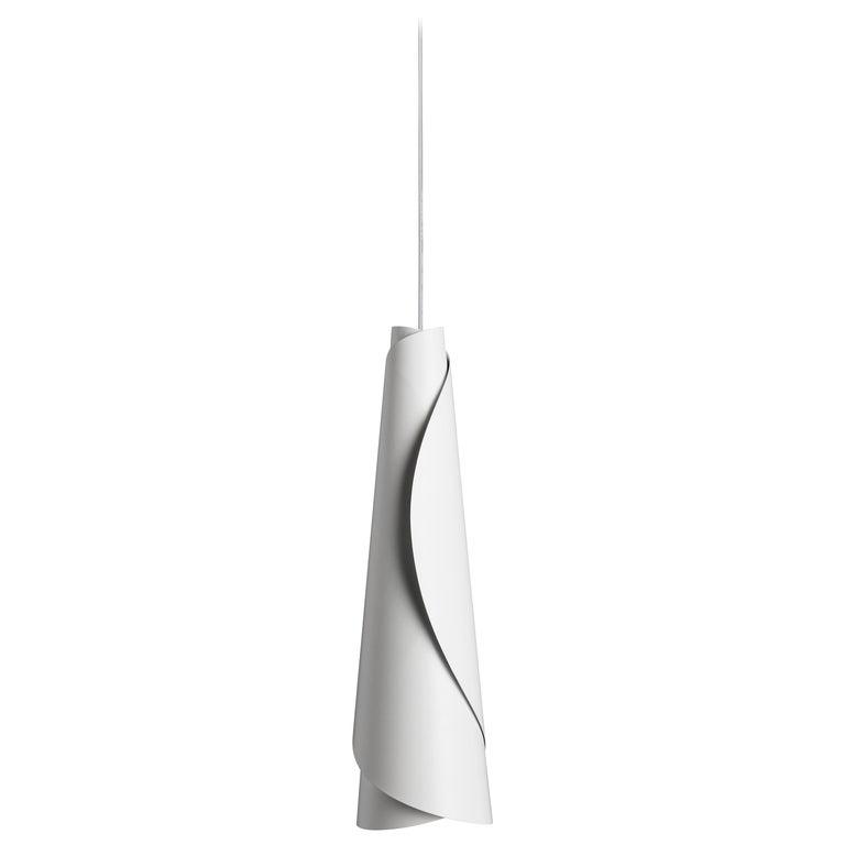 Foscarini Maki Suspension Lamp in White by Nendo For Sale