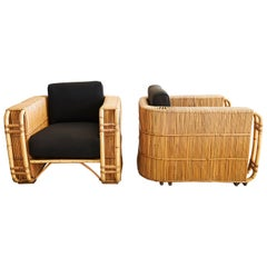 French Bentwood Rattan Chairs