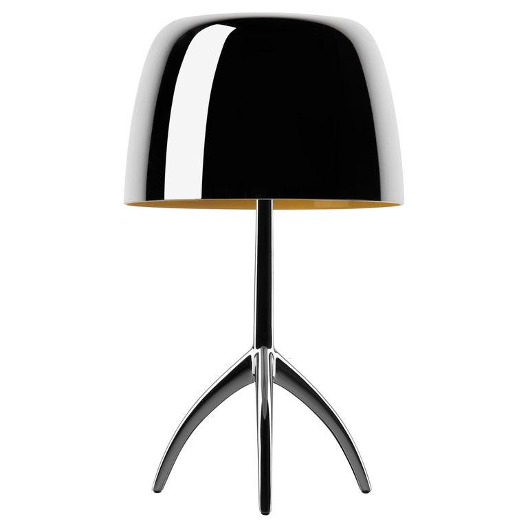 Foscarini Lumiere 25th Large Table Lamp in Transparent Mirror by Rodolfo Dordoni For Sale