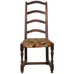"Solid Walnut ""Rocchetto"" Chair, Italy, circa 1700"