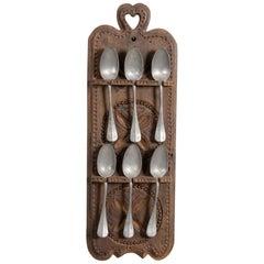 Primitive Spoon Rack, Switzerland, circa 1800
