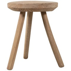 Primitive Spruce Stool, Italy, 1800