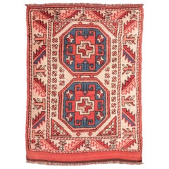 20th Century Wool Rug, Anatolia Geometric Design, circa 1940