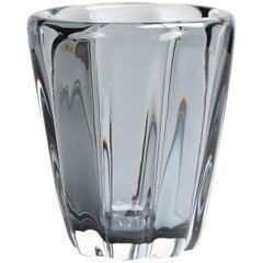 Yali Murano Hand Blown Fiori Conico Vase Grey