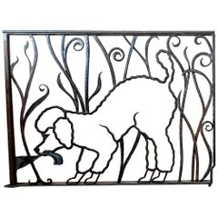 French Art Deco Wrought Iron Screen/Gate