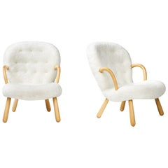 Philip Arctander Pair of Clam Chairs, 1950s