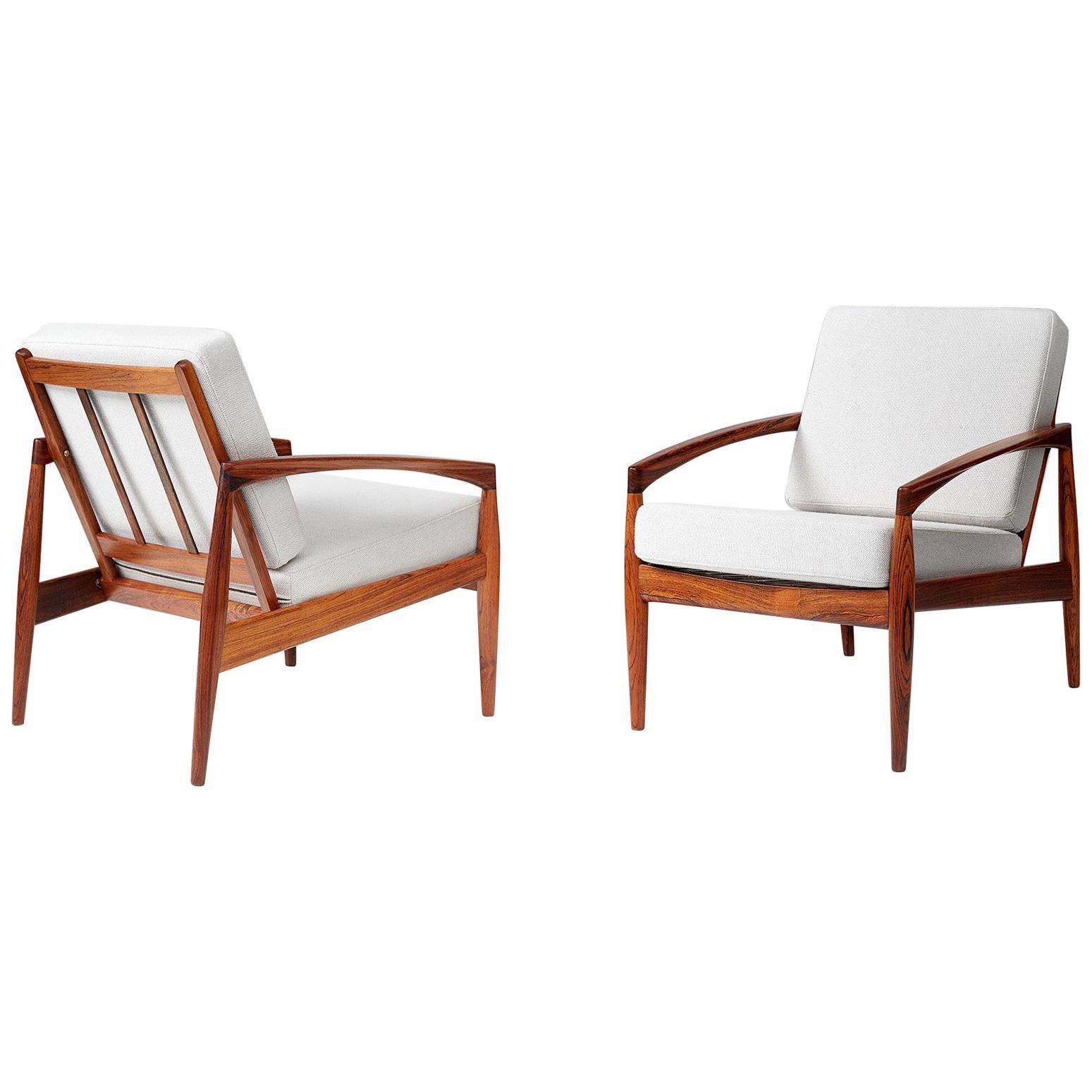 Kai Kristiansen Vintage Paper Knife Lounge Chairs