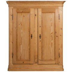 Solid Spruce Wardrobe, Engadine, Late 1800