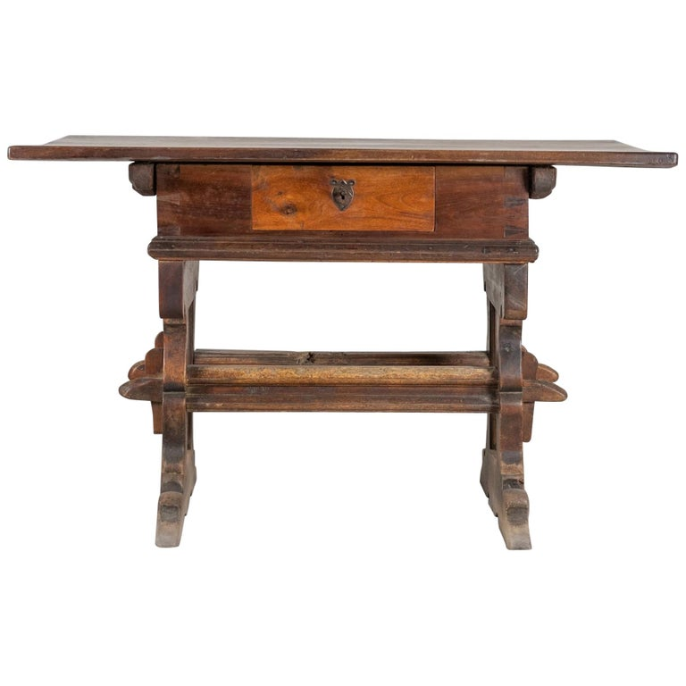 Engadinese Table, Engadine, circa 1600 For Sale