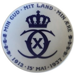 Royal Copenhagen Commemorative Plate from 1937 RC-CM280