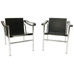 """LC1, Le Corbusier """"Basculant Sling Chairs"""" Pierre Jeanneret & Charlotte Perriand"""