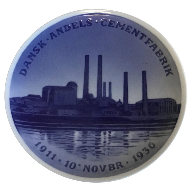 Royal Copenhagen Commemorative Plate from 1936 RC-CM278 For Sale