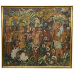 Circle/Follower of Henri Rousseau, Exotic Market Scene, circa 1925