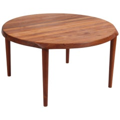 Solid Teak Wood Coffee Table by John Bone for Mikael Laursen, Denmark, 1960s