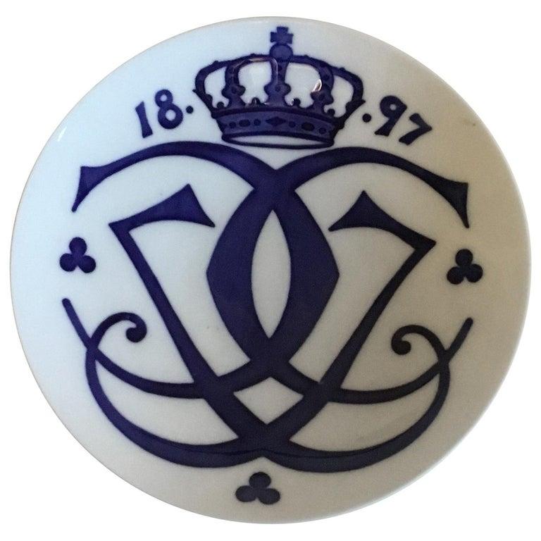 Royal Copenhagen Commemorative Plate from 1897 RC-CM8 For Sale
