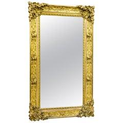 Large Rococo Gilt Mirror