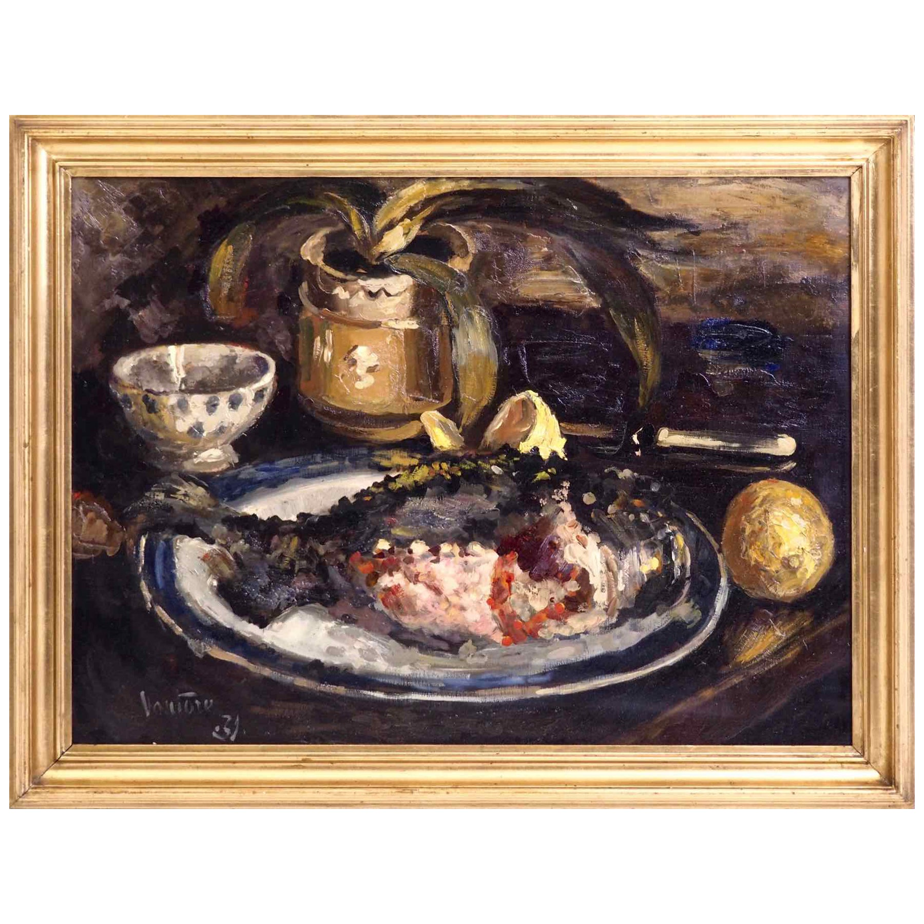 Fine Nature Morte Painting, Signed and Dated '31, Oil on Canvas