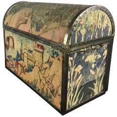 French Fabric Covered Domed Box
