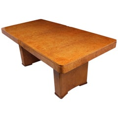 Art Deco Dining Table in Burr Maple