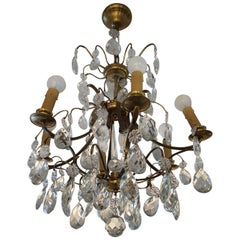 Swedish Crystal Chandelier, Early 20th Century