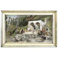 Circle of Martinus Rørbye, Danish Golden Age Painting, Unreadable Signature