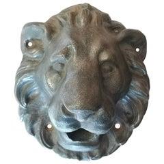 Lion Head Iron Fountain Garden Spout