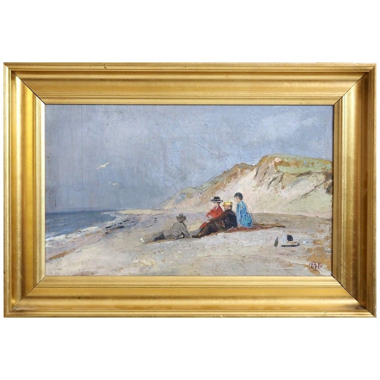 """Charming Painting from Skagen, Denmark, Signed with Monogram """"PH"""" Peter Holm  For Sale"""