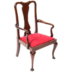 Early 20th Century Queen Anne Revival Mahogany Child's Chair