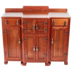 Unusual Quality Art Deco Walnut Sideboard