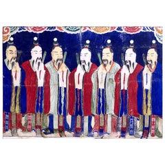 Very Unusual Chinese Gouache, 19th Century