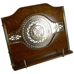 Antique English Oak and Brass Lectern / Book Rest, circa 1890