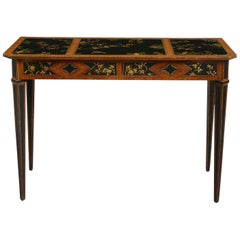 18th Century Satinwood Side Table Inset with Lacquer Panels