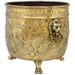 Brass Flower Pot, 19th Century, France